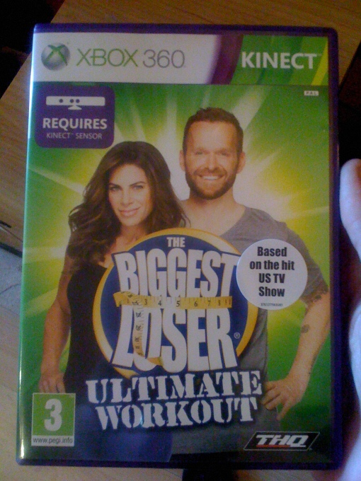 Biggest Loser Xbox 360 Kinect, 39 stone cyclist