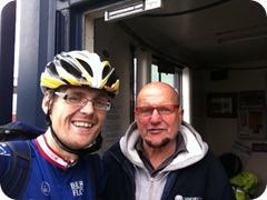 Gaz the 39 stone cyclist and Oscar Brogden