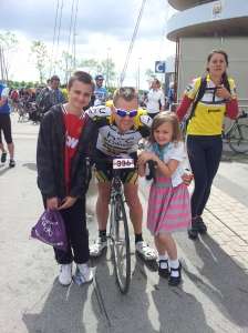 Great Manchester Cycle, with my 2 super awesome kids